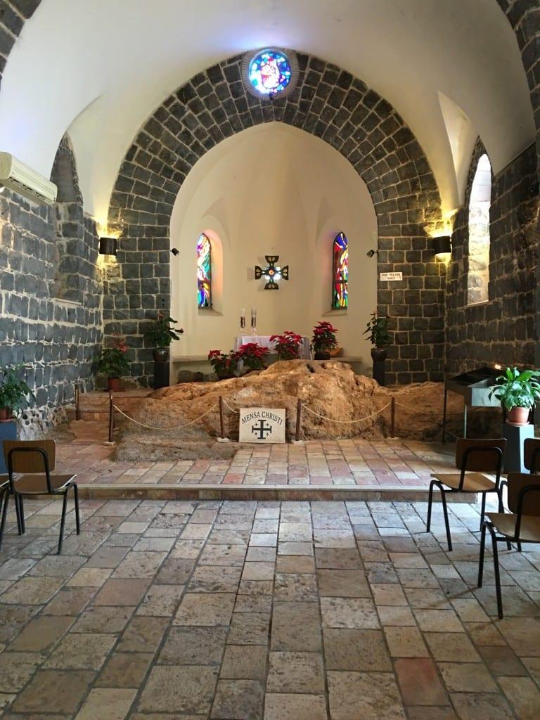 Inside the Table of Christ Church (Mensa Christi)