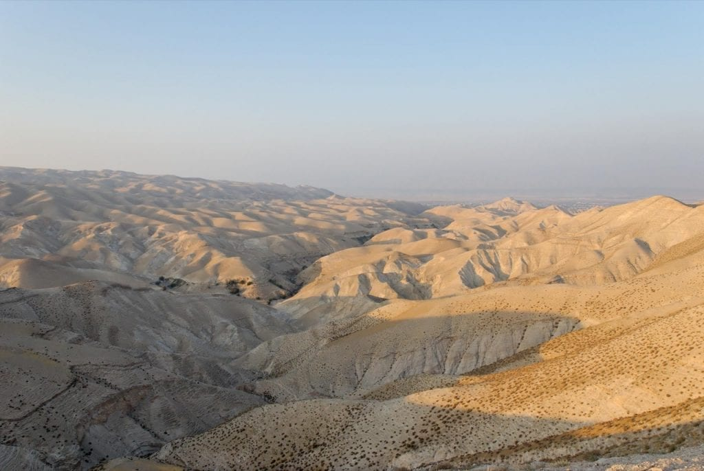 Photo: Wadi Qilt and Judean wilderness. Courtesy of the Pictorial Library of Bible Lands.
