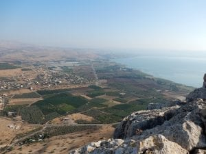 From Mt. Arbel you can see Capernaum, Beatitudes, Bethsaida, Magdala, and much more!
