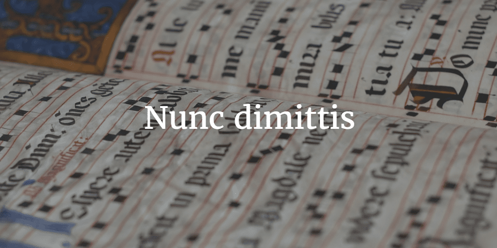 How to Chant the Nunc dimittis