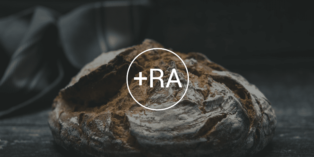 RA Logo Over Bread