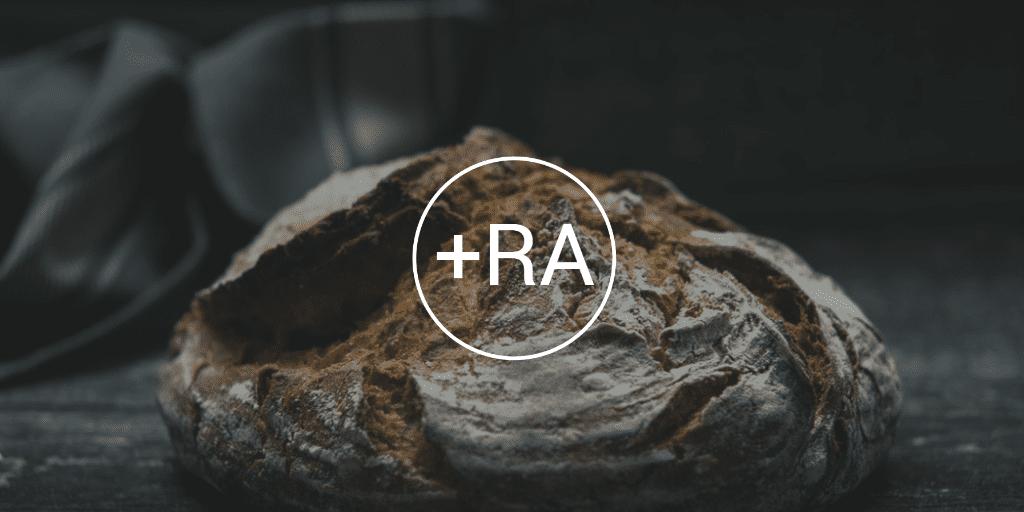 RA Logo Over Bread