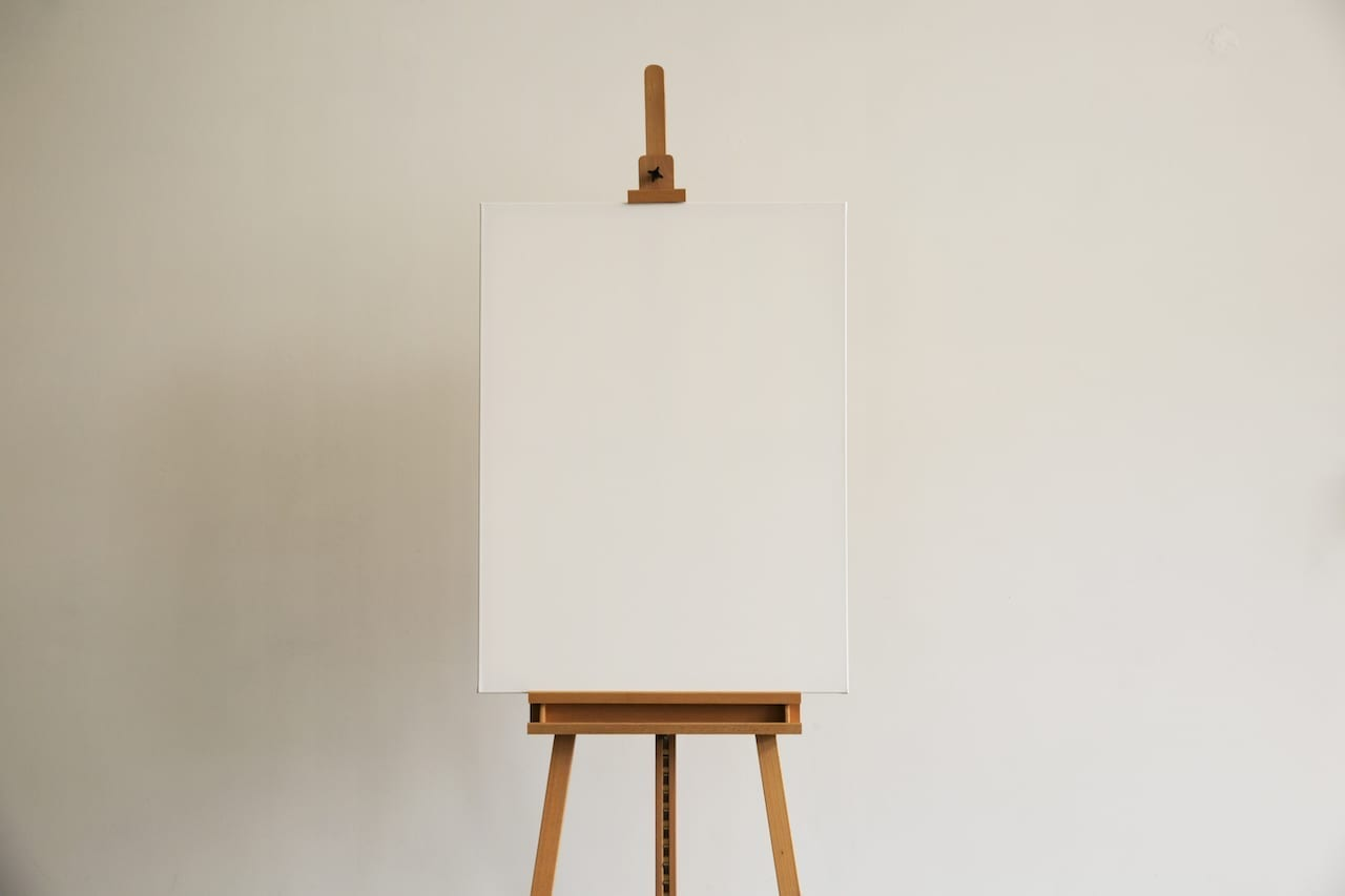 an easel for low-tech sermon visuals