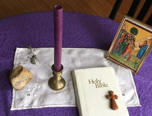 Praying Around the Table: Making a Prayer Space in your Home